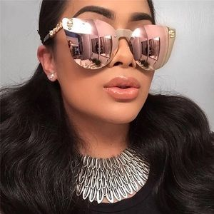 Accessories - Rose gold cat eye mirror sunglasses